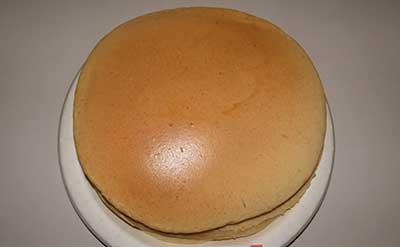 「P」を使って焼いたホットケーキ